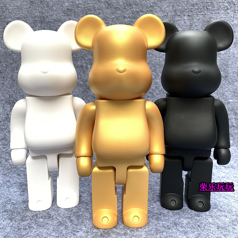 bearbrick 暴力熊 积木熊 纯白diy 素体积木熊 手办模型家居摆件
