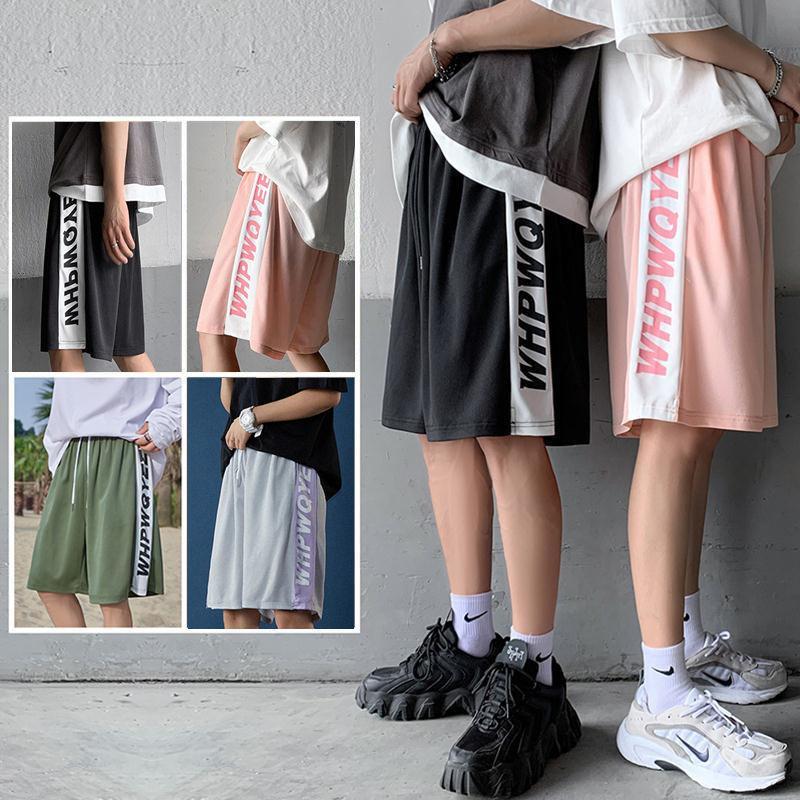 2021新款夏季短裤男潮牌五分裤韩版宽松篮球运动裤冰丝薄款沙滩裤