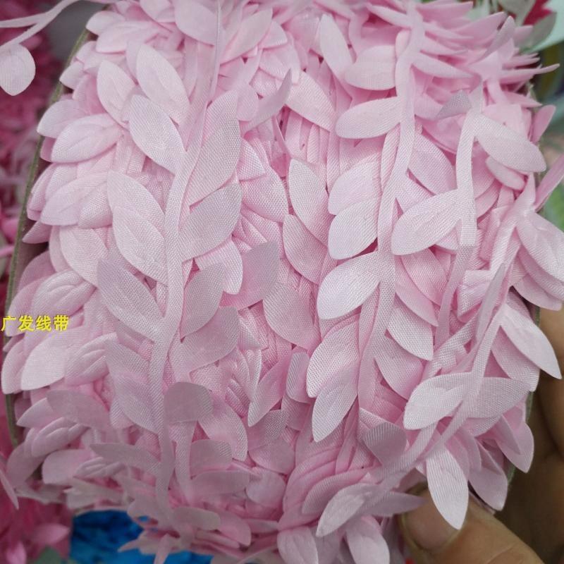 200メートルのシミュレーション植物の人工レースの布芸の偽の葉カラー柳の葉のアクセサリはロープを飾ります。