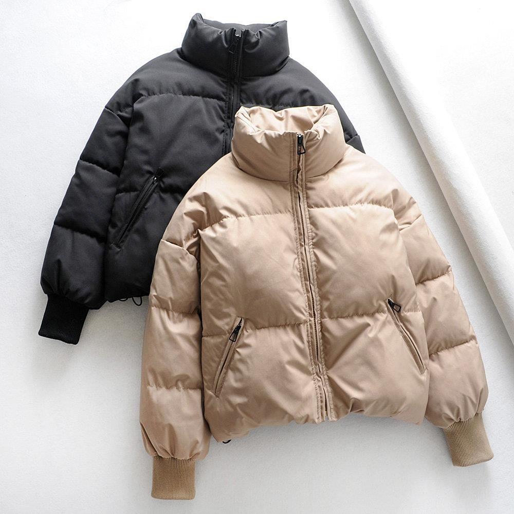 短款棉服面包女2020秋冬新款口袋长袖立领外套法式拉链小众服爆款