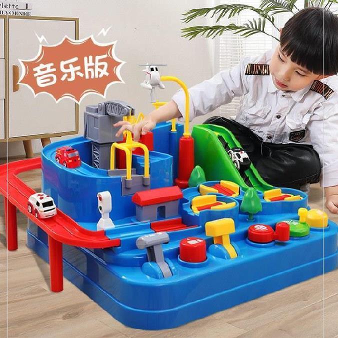 类奖品组合立体控制台6岁滑道礼物轨道车交通游戏5岁玩具