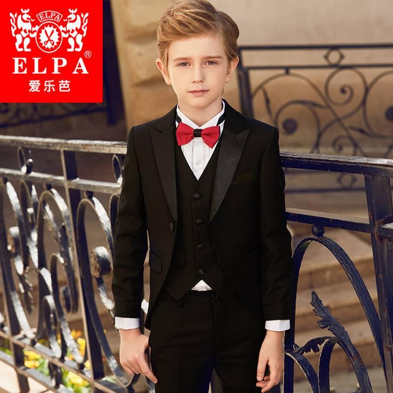 。ELPA儿童燕尾服男童西装套装花童礼服主持钢琴演出服西服英伦风
