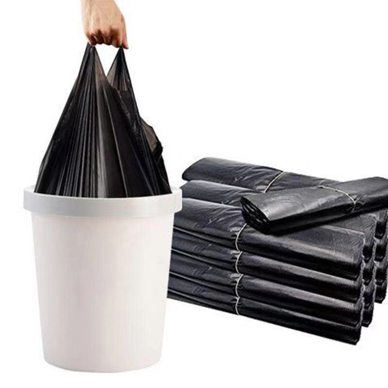 300只黑色垃圾袋家用加大加厚一次性物业厨房手提式背心塑料袋