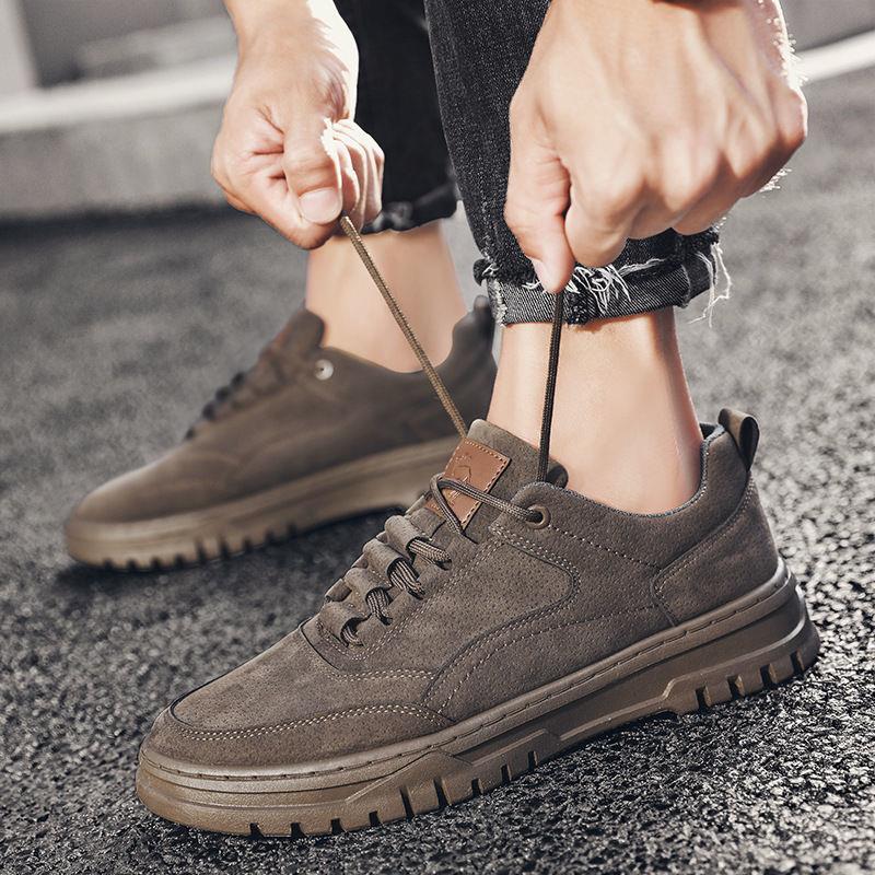 2021新款马丁靴男士工装鞋英伦风夏季低帮短靴男休闲潮流沙漠皮鞋