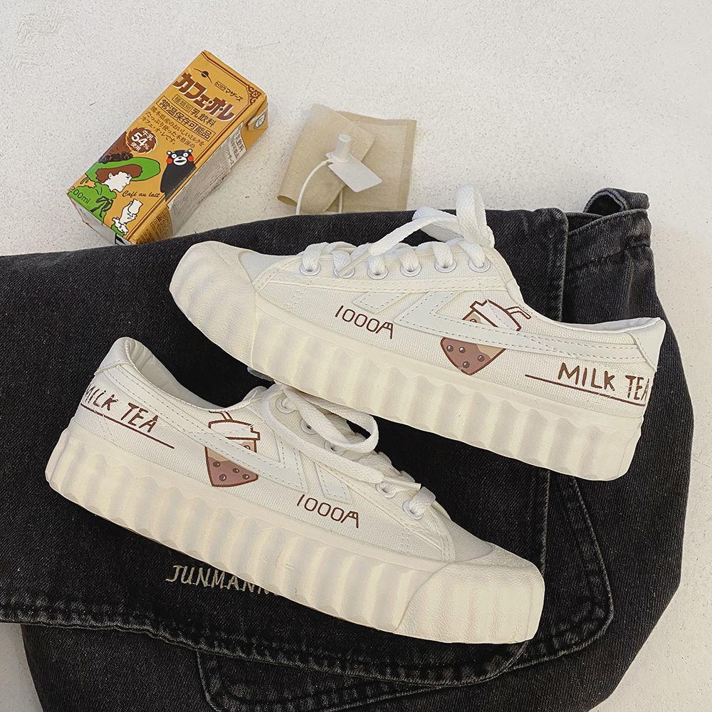帆布鞋女2021新款夏季学生透气韩版休闲板鞋子小白鞋ulzzang百搭