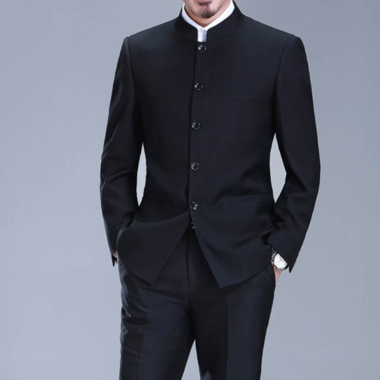 Guofeng Zhongshan suit mens suit middle age stand collar formal suit dad suit mens Chinese wedding dress man