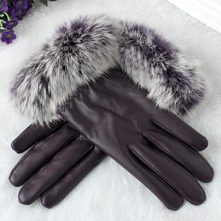 Autumn and winter leather gloves mens and womens thin driving and riding motorcycle gloves full touch screen clothing accessories are elegant