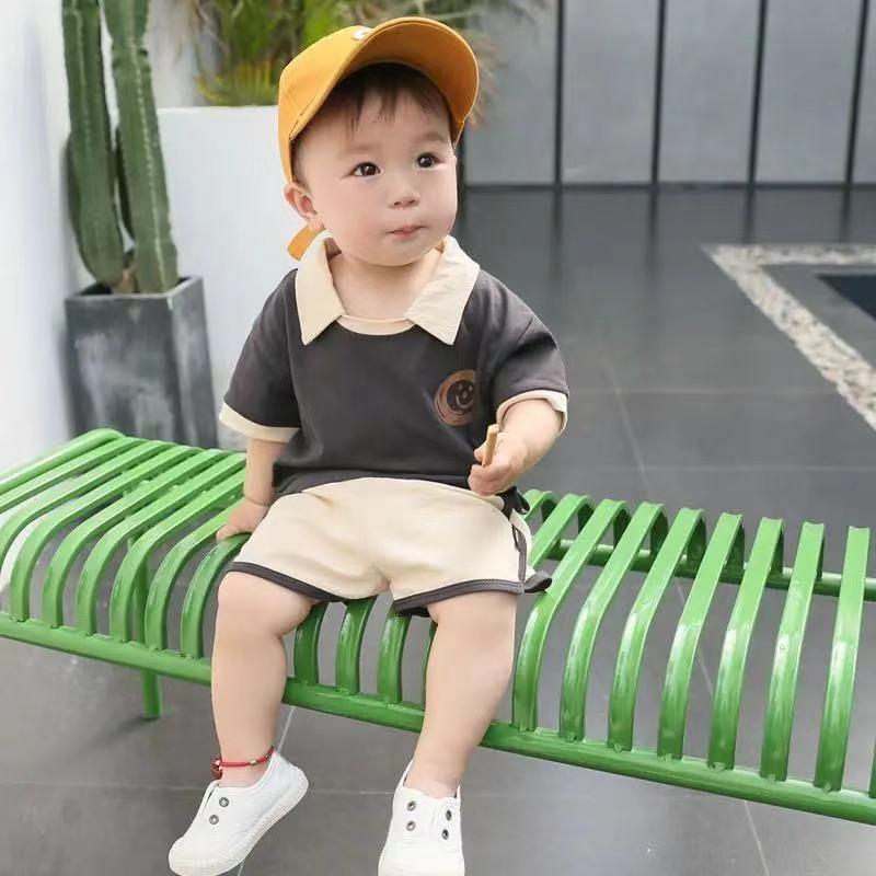 男童短袖套装2021新款男宝宝夏装儿童装女童幼婴夏季短裤半袖套装