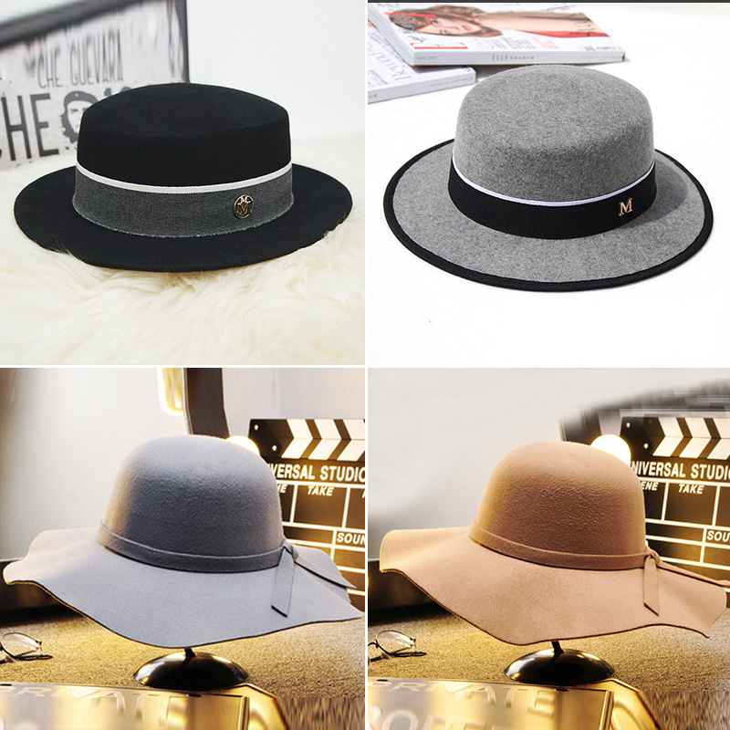 Model room whole house custom cloakroom clothing shoes and hats props Decoration top hat tweed hat soft decoration ornaments