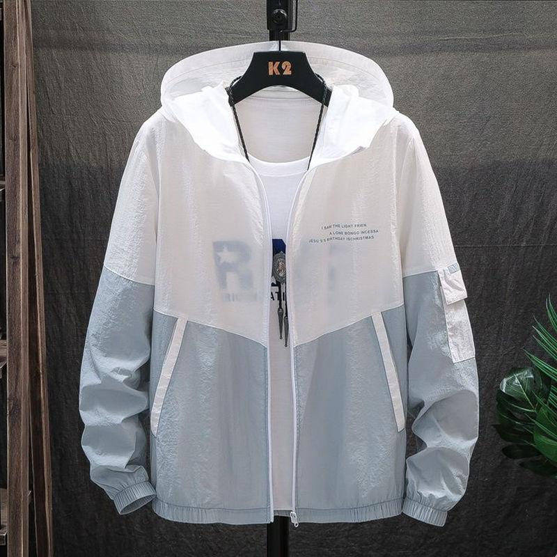 夏季男士防晒衣外套超薄款学生防晒服夹克潮流透气防紫外线皮肤衣