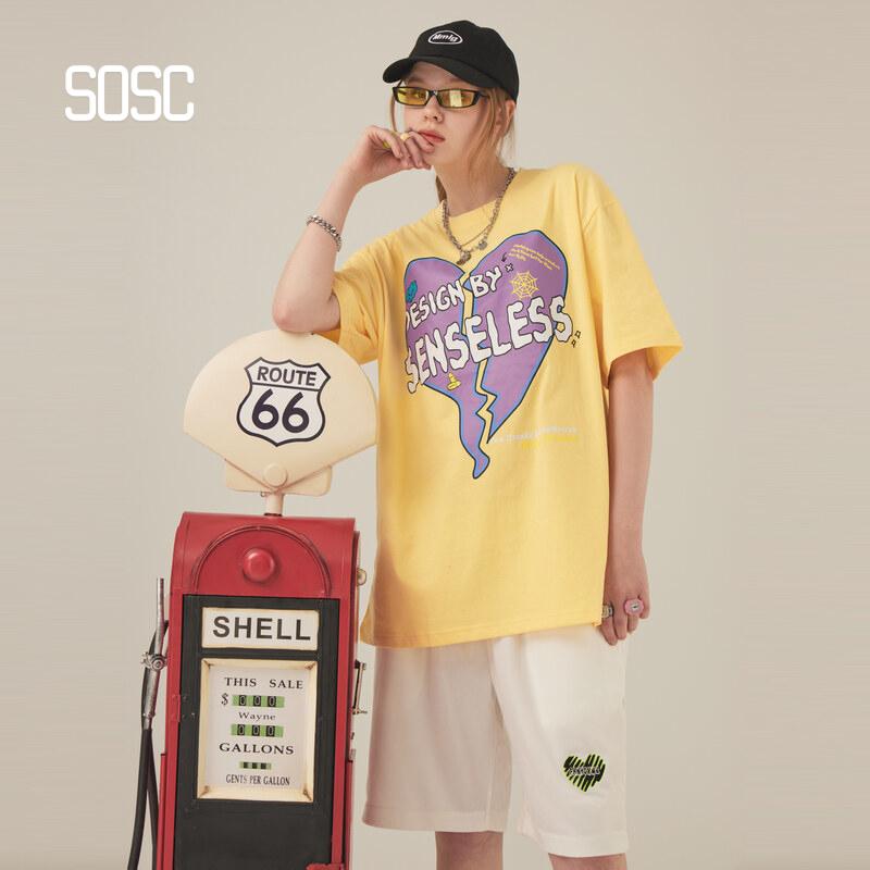 SOSC 2021 summer contrast meaningless heartbreak candy print T-shirt