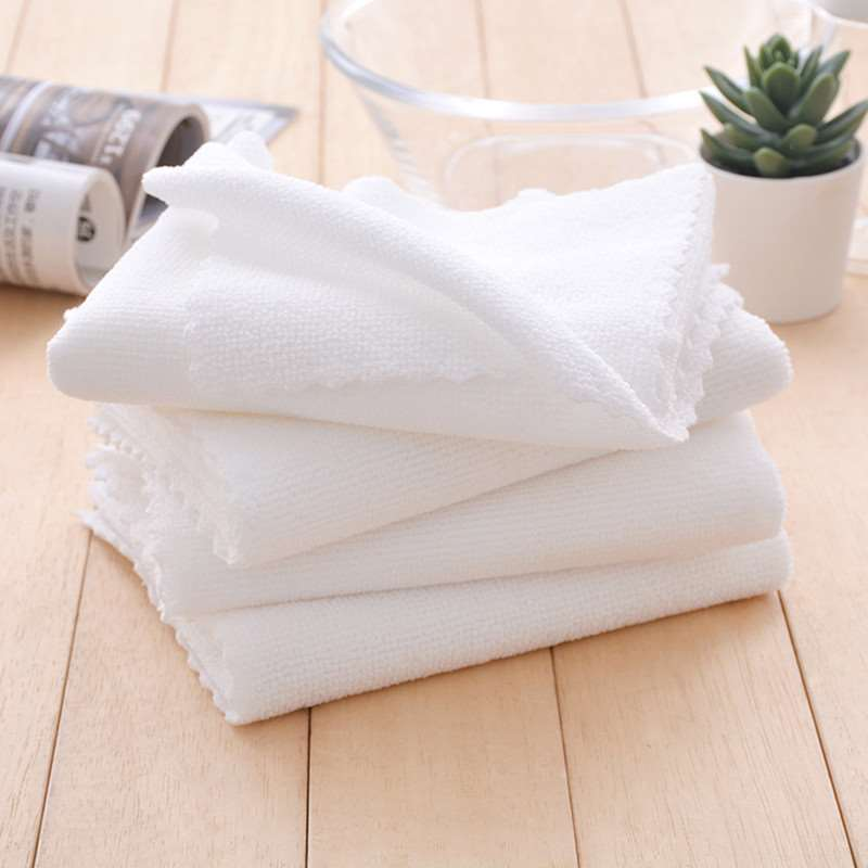 蛋糕房烘焙店用白毛巾吸水不掉毛奶茶店擦吧台清洁速干超纤维毛巾