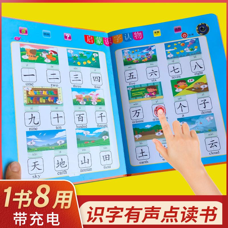早教儿童识字卡片3000字启蒙幼儿园认字书神器教具有声读物点读书