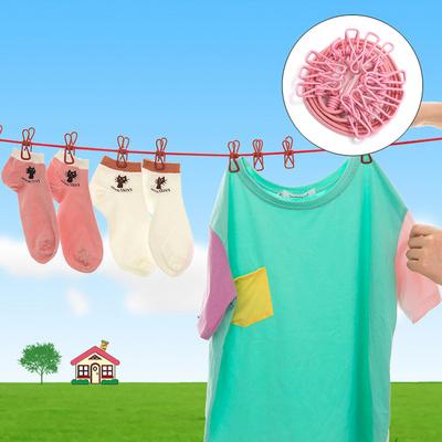 热卖的旅行用晾衣绳放风旅游防滑加粗室内旅行便携式晒衣绳挂衣服