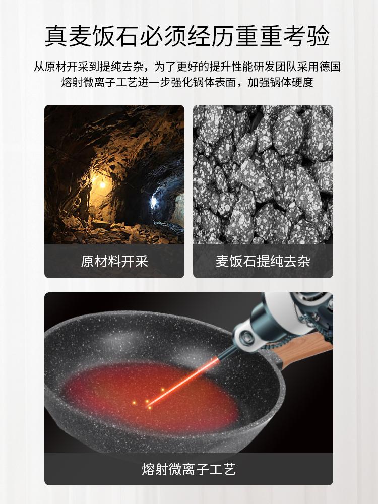 Baodi Maifan stone pan non stick pan frying pan household small gas stove electromagnetic stove special multifunctional breakfast pan