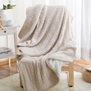 复合针织毯针织毯日式羊羔北欧加线毯绒毯羊羔毛毯午休休闲