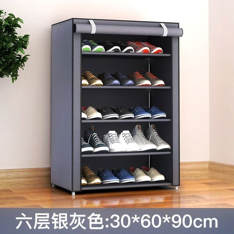 Shoe rack dustproof Oxford canvas single selling shoe cabinet wardrobe cloth art thickened cover coat simple cloth cover.