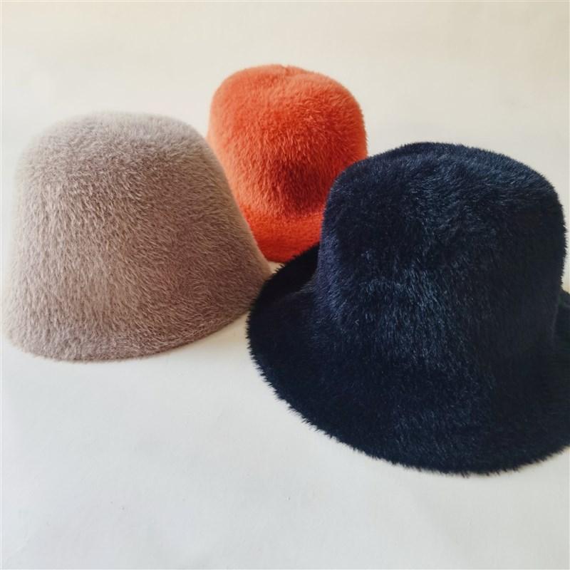 Soft wool felt hat childrens autumn and winter elegant fishermans hat fashionable Korean warm wool Plush fishermans hat top hat tide