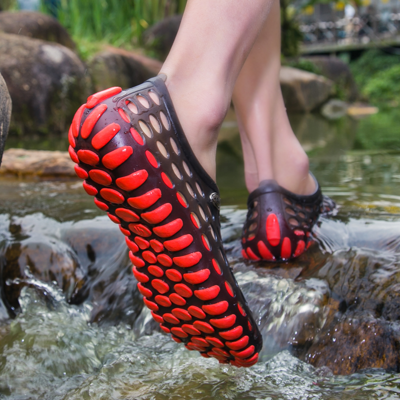 Net mountaineering outdoor super water tracing amphibious mens shoes anti slip speed shoes interference shoes hiking Creek breathable shoes light