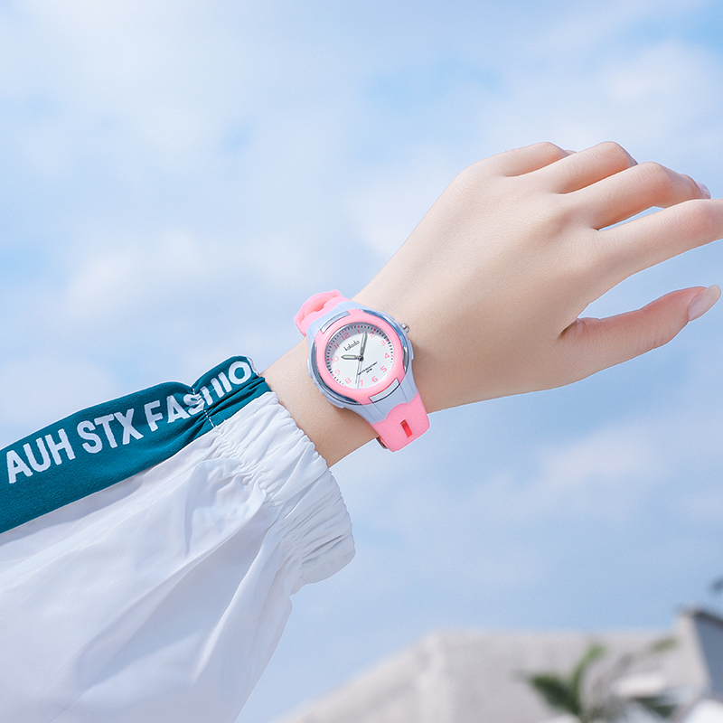 Chinese lovely Primary School Korean girls big childrens waterproof and fall proof pointer quartz watch