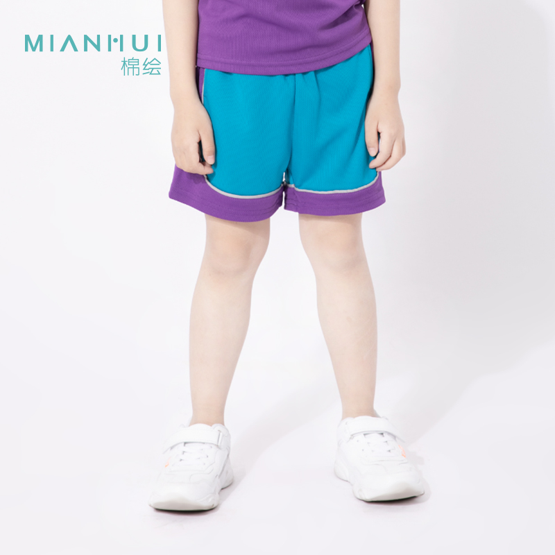 Mianhui cotton painting boys summer 2021 new pure cotton lightweight and breathable casual slim fit thin shorts