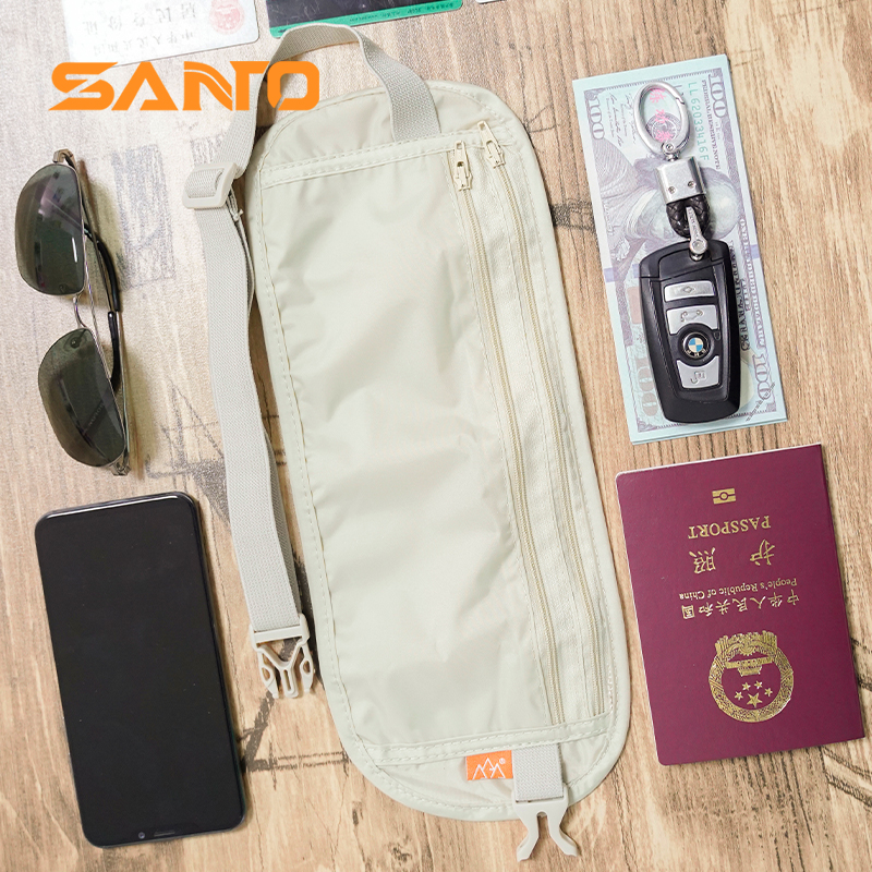 Travel abroad personal anti theft waist bag travel sports passport bag invisible wallet Book anti theft wallet men and women
