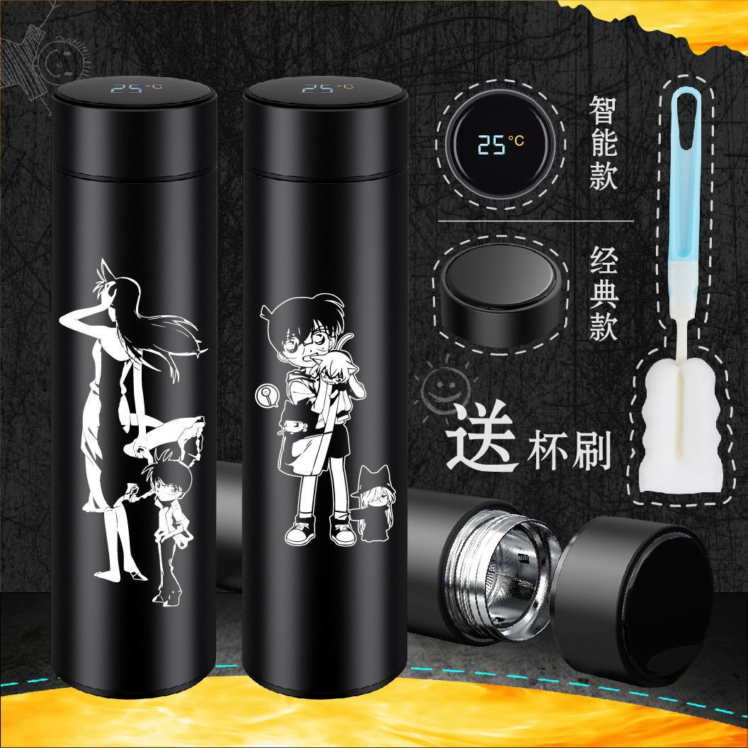 Cartoon Detective Conan magic quick fight monster Kidd maolilan stainless steel thermos cup to customize