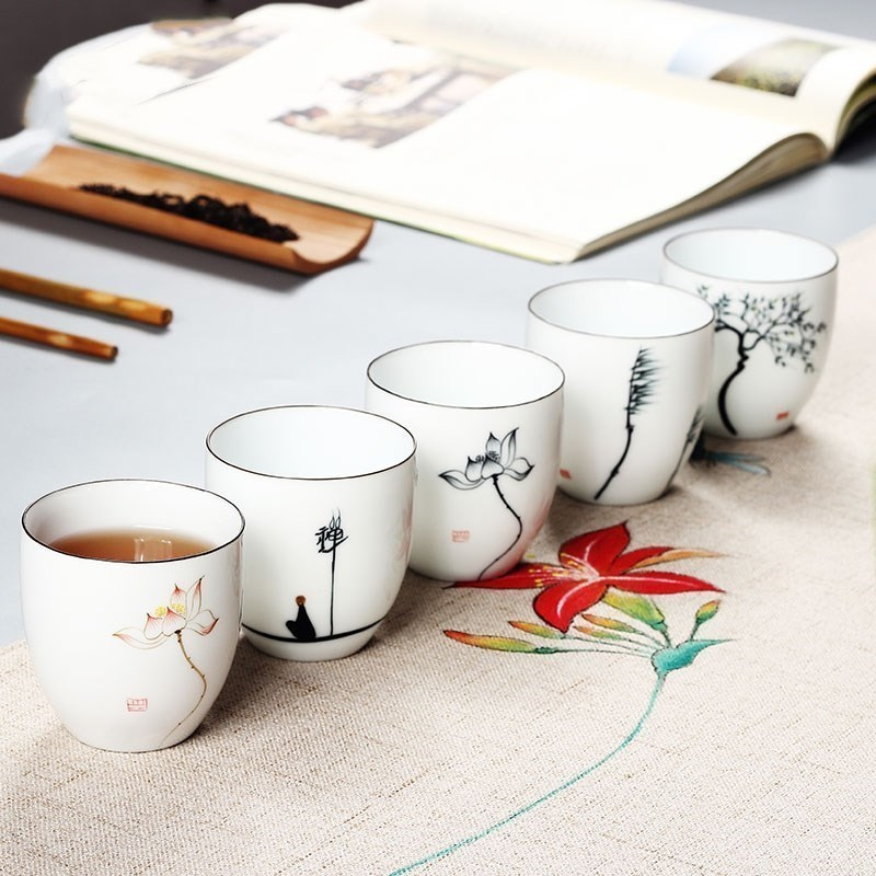Practical Mini Gift Puer fresh tea resistant tropical cup with lotus design water cup for women and men.