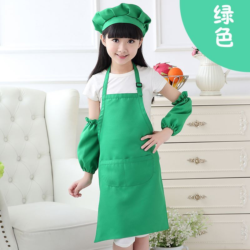 Primary school childrens clothing adult custom painting childrens chef hat hanging neck role play work clothes