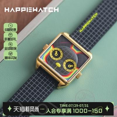 HappieWatchXQee时尚潮玩联名款时空陷阱小怪兽腕表进口机芯手表