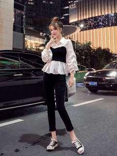 微胖大码女装秋季新款洋气时尚两件套上衣网红2021潮套装减龄显瘦