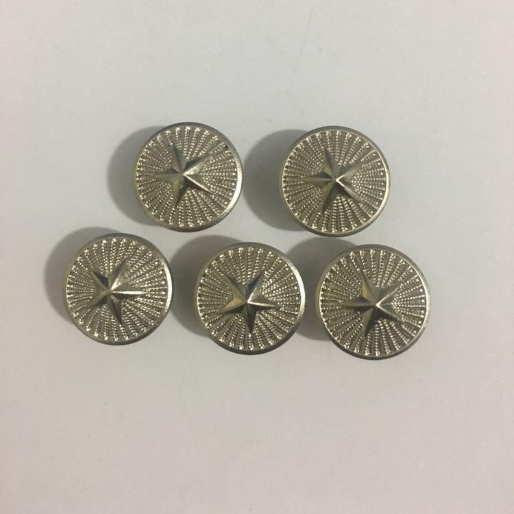 . Regular dress epaulet screw cap button spring and autumn winter summer golden student five pointed star button epaulet button.