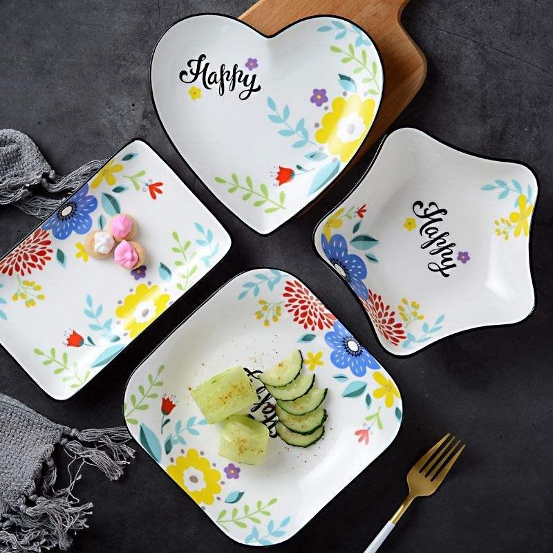 水果盘北欧风格 现代田园风花样爱心可爱的盘子套装创意网红ins风