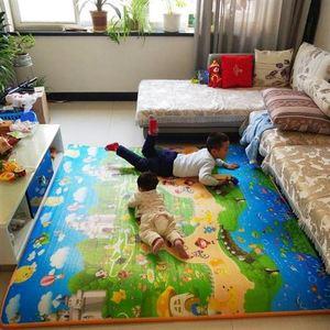 加厚宝宝爬行垫客厅婴儿童爬爬垫一E整张小孩玩耍学爬地垫泡沫用