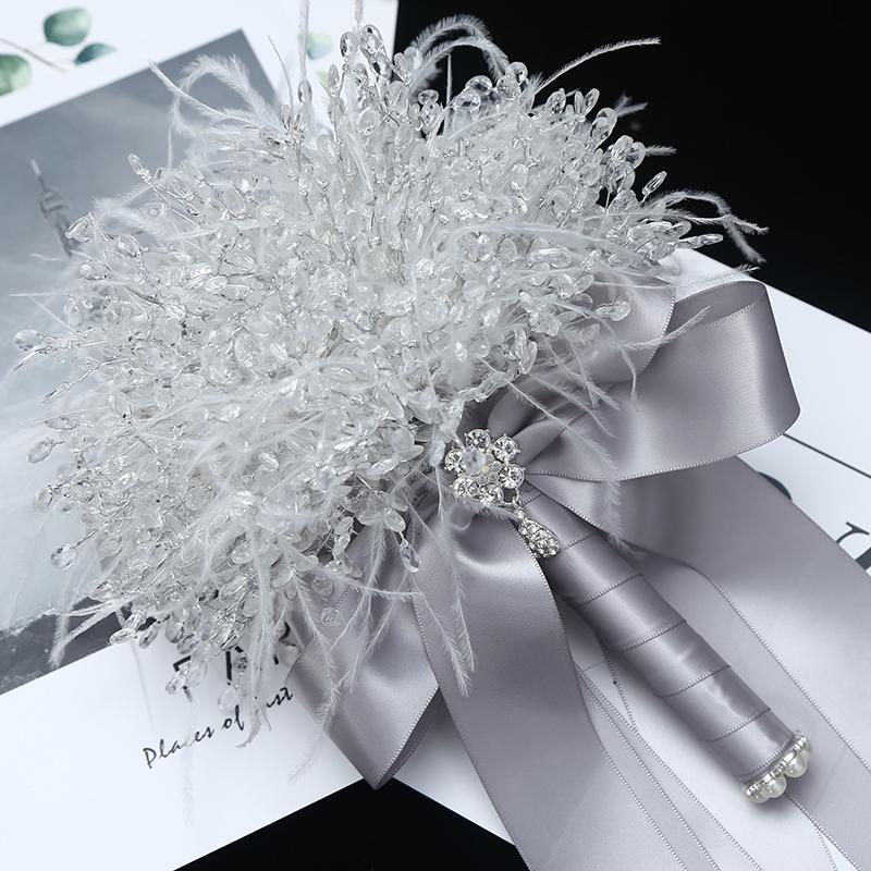 透明水晶西式新娘手捧花手工制作唯美冰雪童话材料包成品