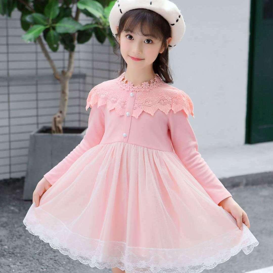中國代購 中國批發-ibuy99 连衣裙长袖 童装春款连衣裙2021新款韩版儿童洋气长袖女童中大童女童公主裙