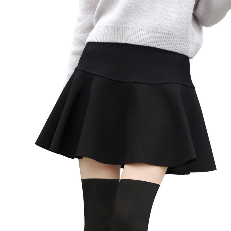 秋冬款韩版高腰女蓬蓬裙裤字半身裙