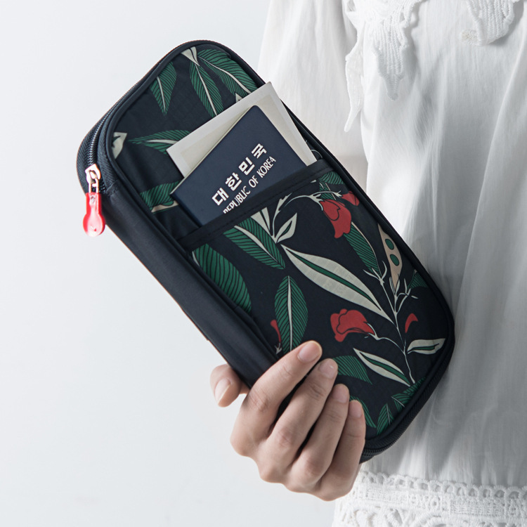 Travel abroad certificate bag travel passport bag multi function certificate bag air ticket passport clip protective case wallet
