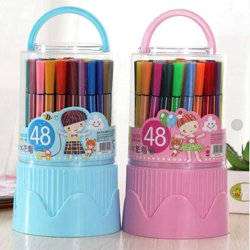 中國代購|中國批發-ibuy99|彩色笔|12色48色水彩笔套装可水洗彩色笔画画涂鸦笔儿童幼儿园小学生