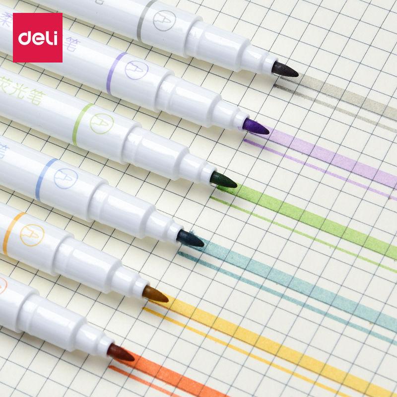 中國代購|中國批發-ibuy99|彩色笔|双头柔彩荧光标记笔学生用笔记粗划重点手账笔彩色记号笔套装