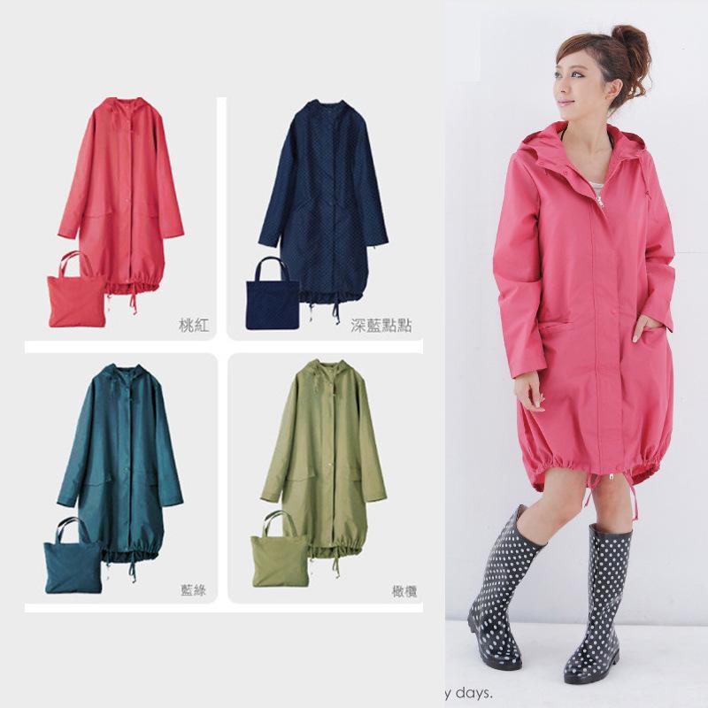 Raincoat female jelly new Japanese and Korean girls fashion adult womens raincoat travel single poncho