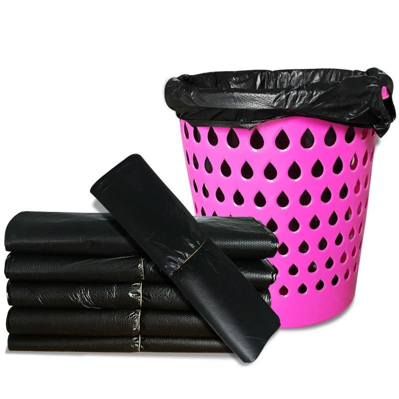 垃圾袋加厚黑色一次性及极带背心式拉圾圾桶塑料袋手提家用中号代