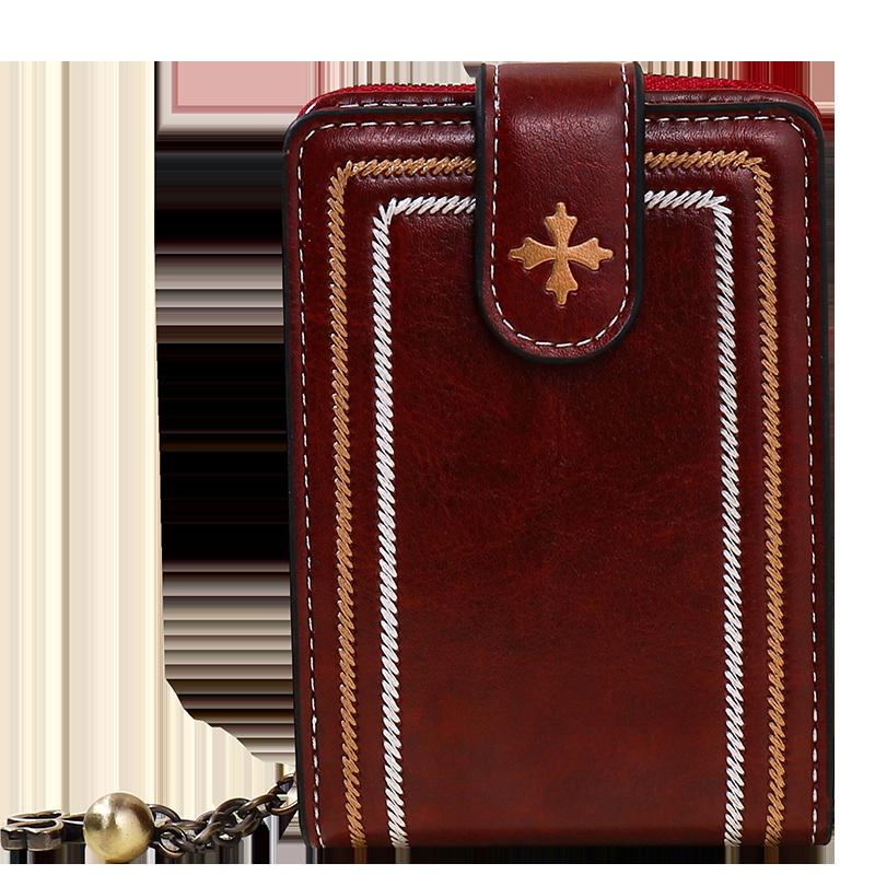 卡包女新款防盗刷大容量多功能卡包折叠零钱包便携钱包卡包一体包