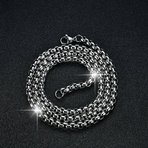 Titanium with mens necklace, domineering, fashionable mens steel chain, snake bone keel with jewelry, Korean version, thick clavicle chain