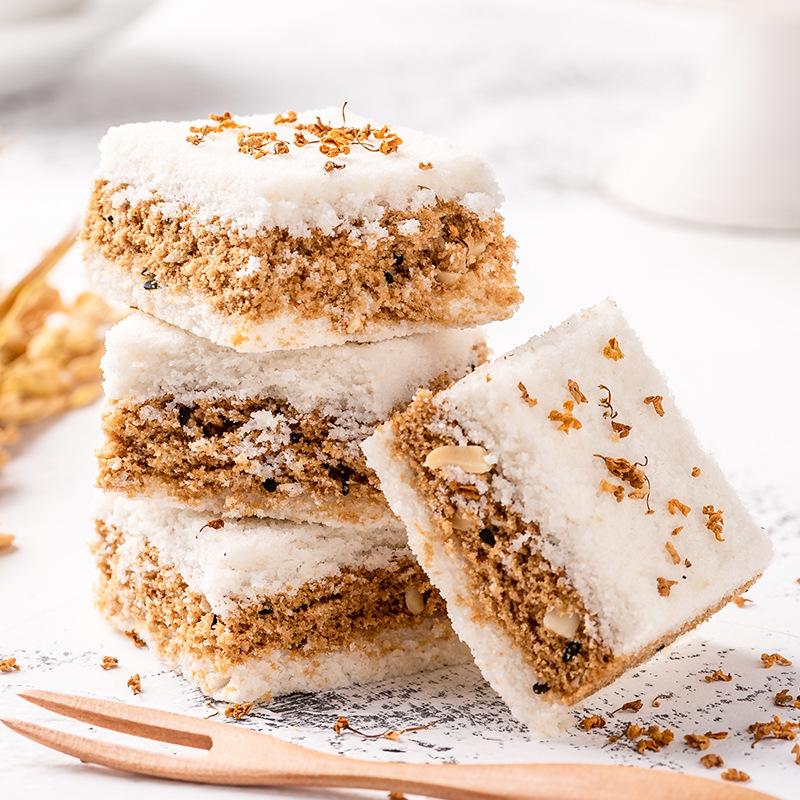 温州特产小吃传统糕点桂花糕软糯米糕网红零食即食袋装夹心小米糕