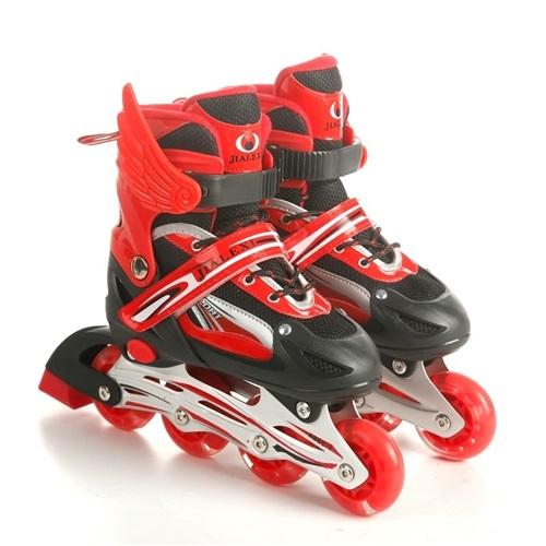 溜冰鞋儿童全套装男女童5旱冰鞋可调直排轮滑鞋6闪光8-10-12-15岁