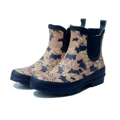 Dog pattern rubber rain shoes womens fashion short tube rain boots short top low tube low top waterproof shoes anti slip rubber shoes