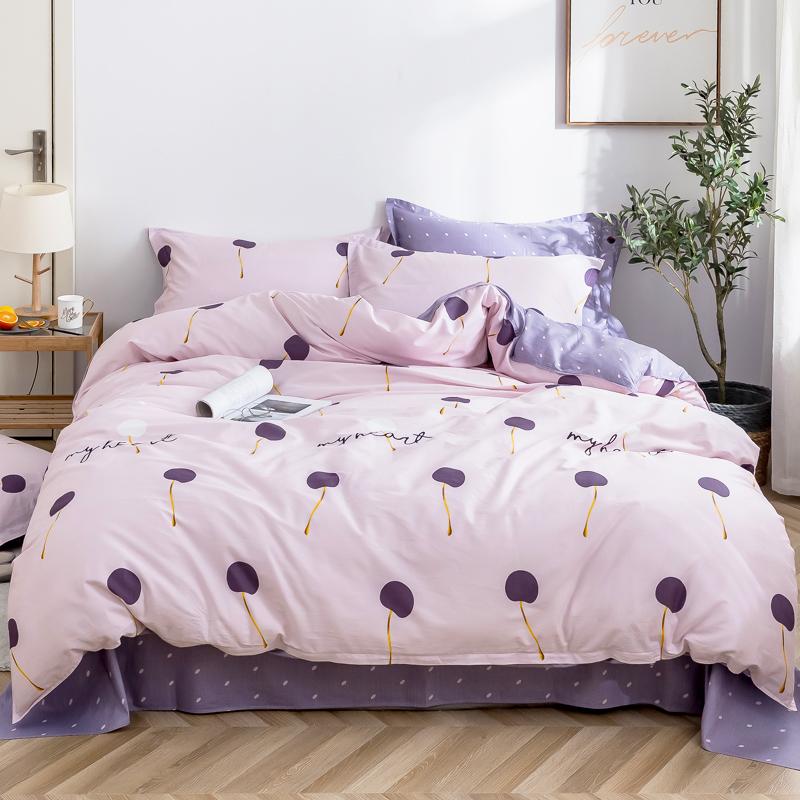 四件套全棉純棉床單被套床上用品被單被子床品套件學生宿舍三件套
