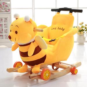 宝宝摇马木马实木两用带音乐婴儿塑料玩具儿童摇椅车小孩周岁礼物