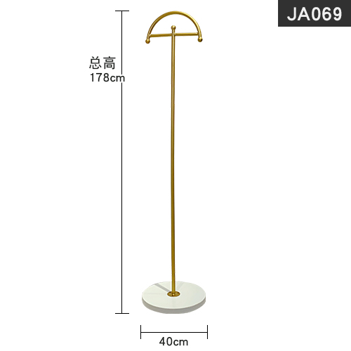 Complete sets of clothing and furniture display rack floor type golden simple combination clothing store Island rack clothing store clothes hanger